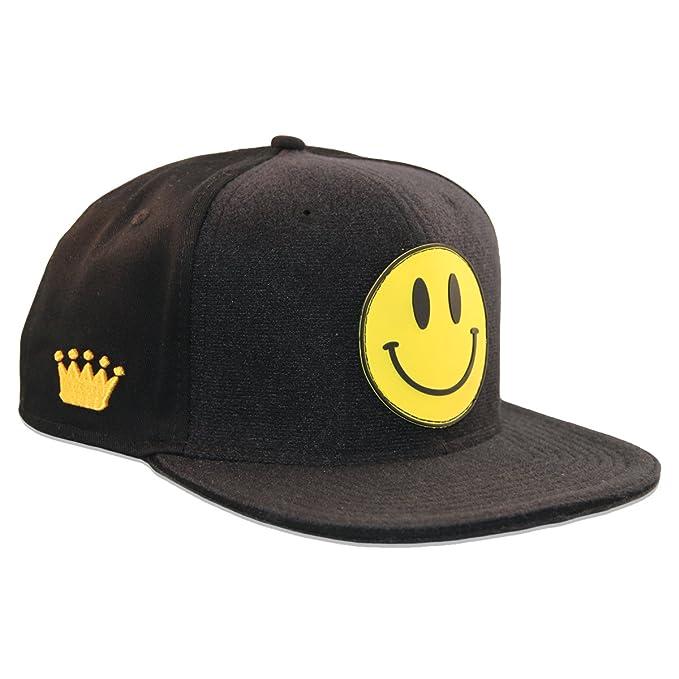 Patrón personalizado de punto de coronas de Velcro en color negro gorra de los + Velcro
