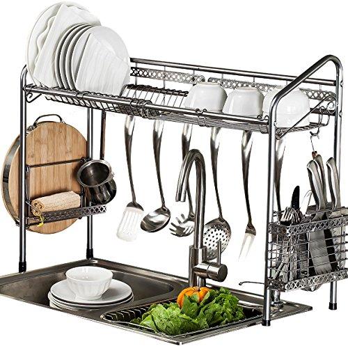 Rack Mini Dish - PremiumRacks Professional Over The Sink Dish Rack - Fully Customizable - Multipurpose - Large Capacity