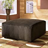Ashley Vista Oversized Square Ottoman in Chocolate For Sale