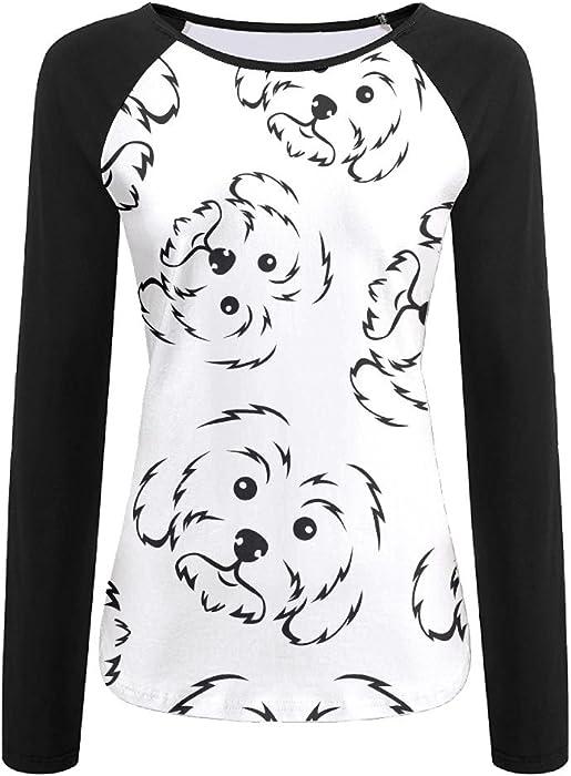 2bacd013f1 Amazon.com: HJ SHIRT Maltese Dog Lover Women's 3D Print Sports T ...