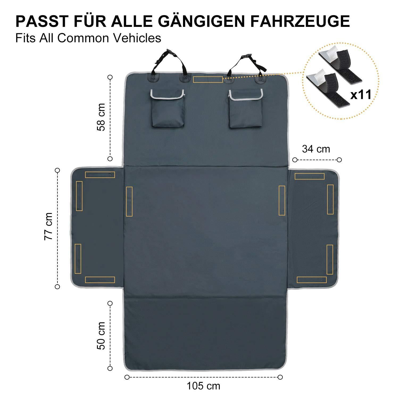Robuste Schutzmatte f/ür Hunde Toozey Kofferraumschutz Hund mit Seitenschutz Universal Auto Kofferraum Hundedecke Grau