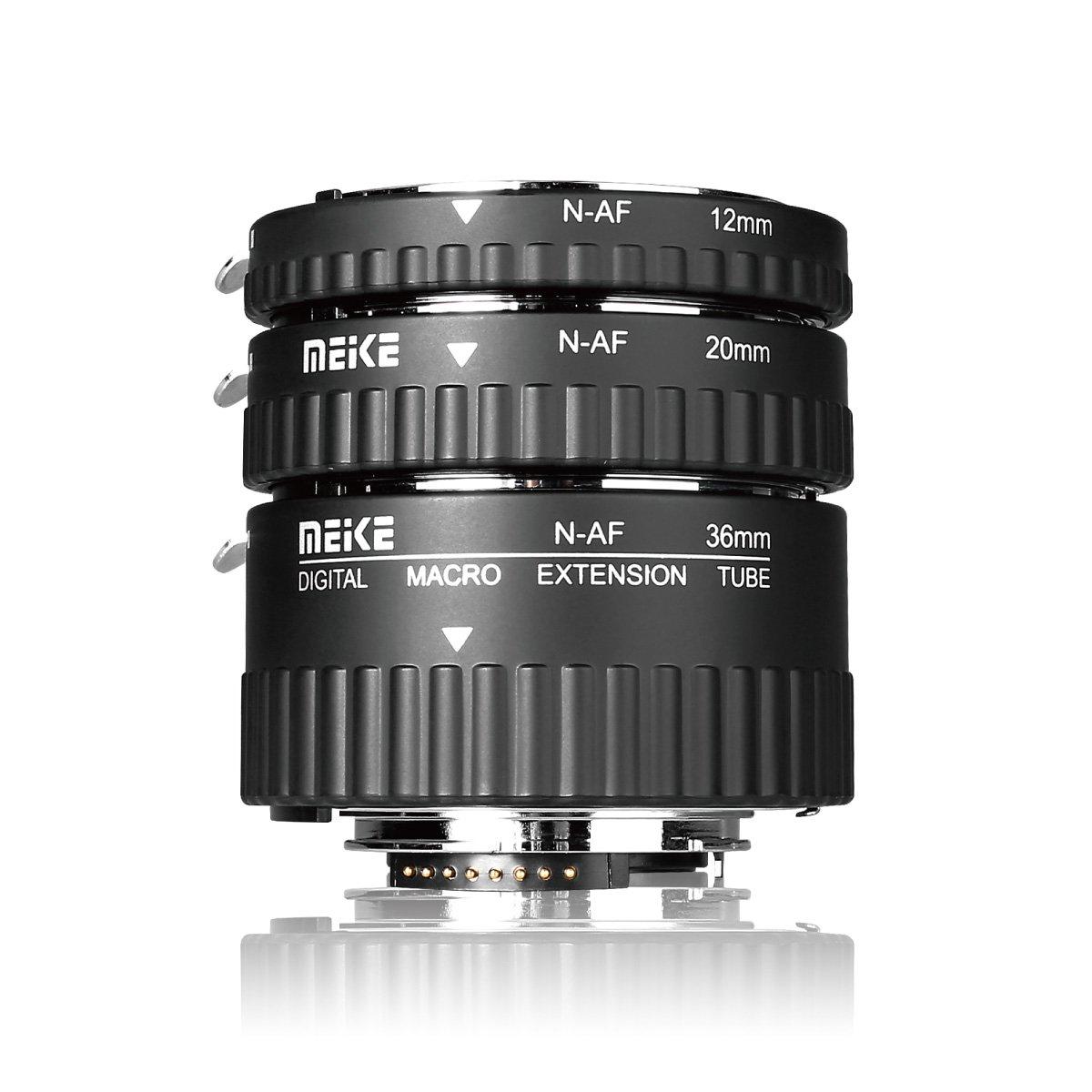 MEIKE MK-N-AF1-A Macro Electronic Mount Auto Foucs Macro Metal Extension Tube Adapter For Nikon DSLR Camera D80 D90 D300 D300SD800 D3100 D3200 D5000 D51000 D5200 D7000 D7100 etc by Meike