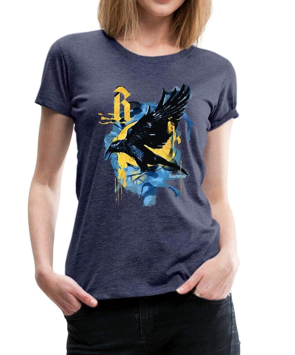 Harry Potter Haus Ravenclaw Rabe Frauen T-Shirt mit gerollten Ärmeln von