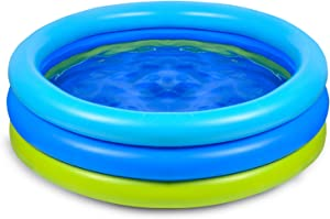 Joyjoz Swimming Pool for Kids, Inflatable Kiddie Pool, Blow UP Swimming Pool for Outdoor, Backyard, Above Ground, Garden, Adults, Famlily, Babies Toddlers
