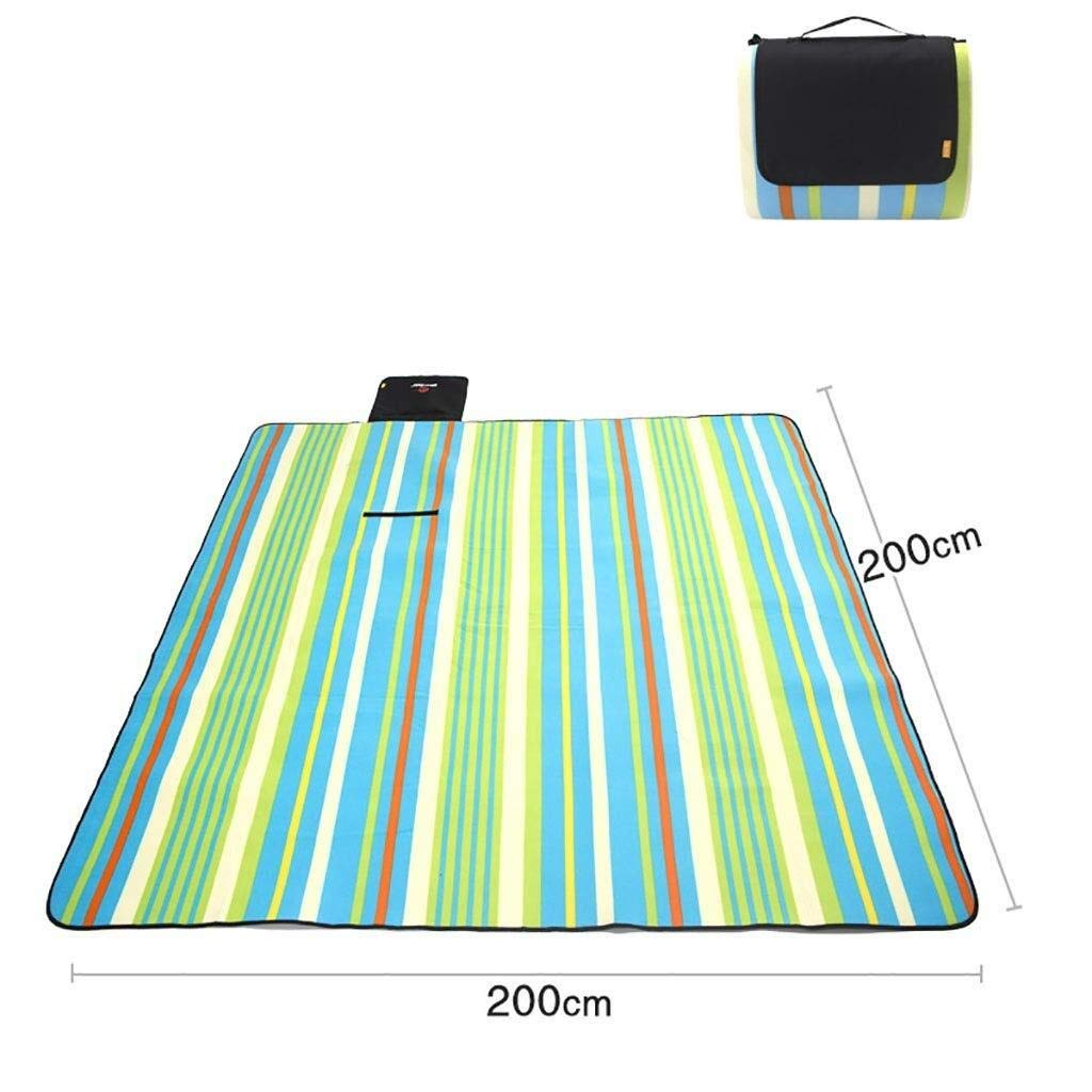 ZKKWLL Picnic Blanket Large Picnic Blanket Thick Padded Picnic mat Outdoor Lawn mat Beach mat Wild Camping mat Beach mat (Color : A) by ZKKWLL