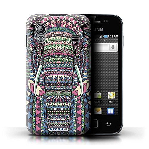 Stuff4 Hülle / Hülle für Samsung Galaxy Ace / Elefant-Farbe Muster / Aztec Tier Muster Kollektion