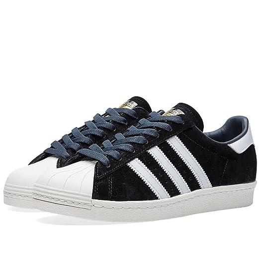 Mens Adidas Superstar 80s Deluxe Black 13 Low-Top Sneakers B25961