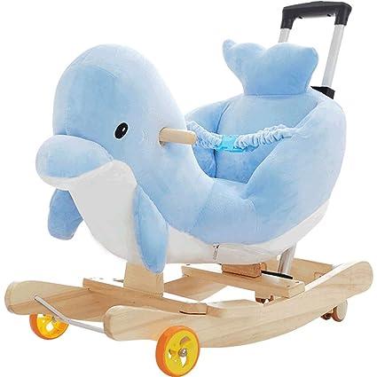 Mecedoras Juguete del caballo de oscilación de los niños Juguete del caballo de madera del bebé