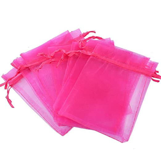25 pcs organza bolsas de Pro rosa Vif sacs-cadeaux de boda ...