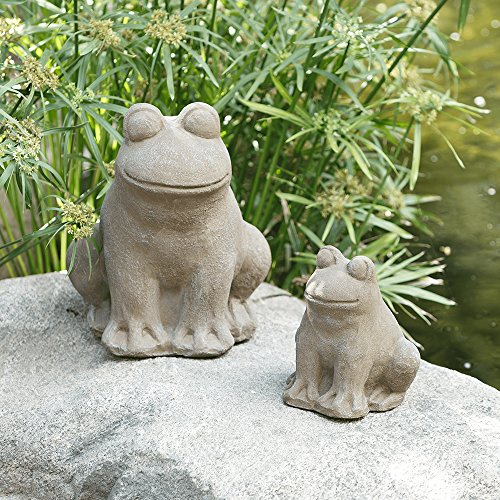 Art Stone Yard (Frog Statue, Yard Art Garden Stone Statues Outdoor Decor (Large))
