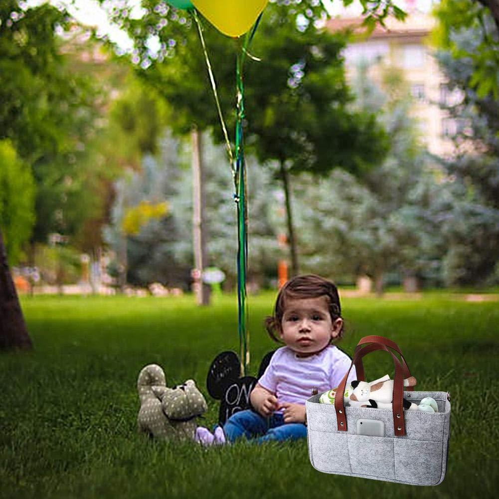 Baby Diaper Caddy Organizer Korb Windel Einkaufstasche Windeln Wischt Lagerplatz Neugeborene Dusche Aufbewahrungstasche Kinderzimmer Lagerplatz F/ür Schrank Schlafzimmer Badezimmer Auto Reisen