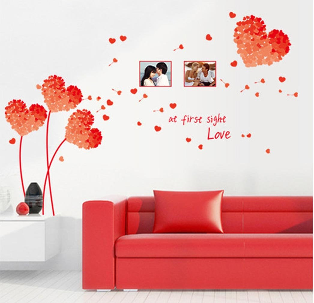 At first sight Love Photo Frame Wall Stickers