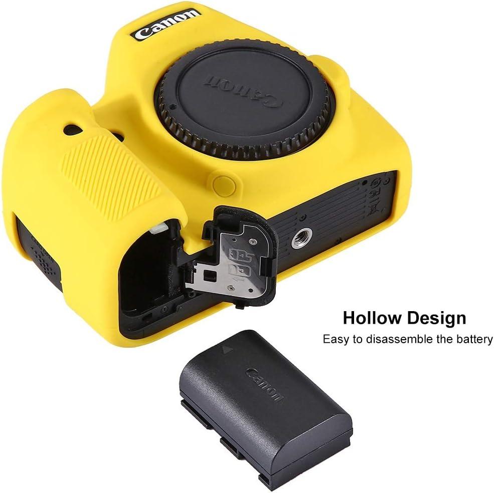 Color : Color1 CYcaibang Camera Case Mild Silicone Protective Case for Canon EOS 6D Camouflage