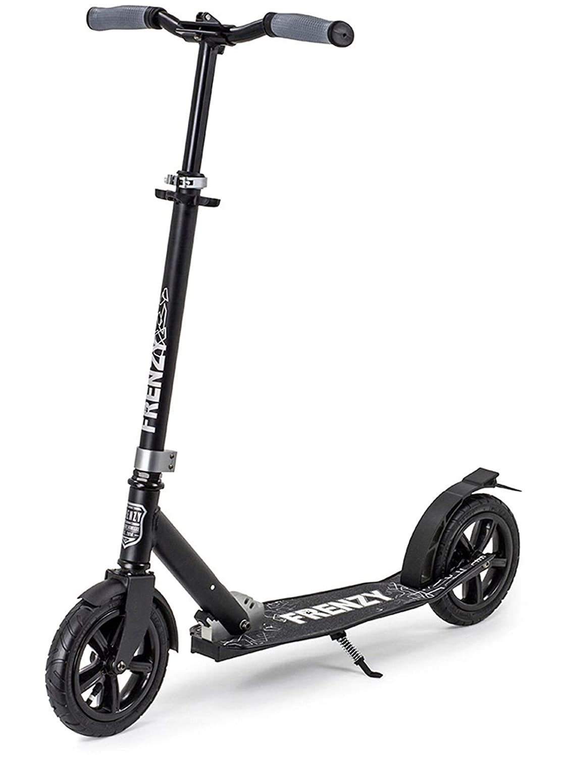 230mm Commuter Scooter Complete Frenzy Black Pneumatic