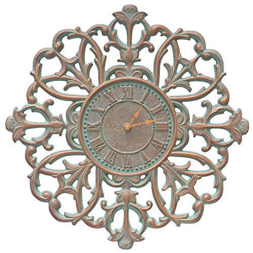 Whitehall Products Filigree Silhouette 21-in. in. Indoor/Outdoor Wall Clock by Whitehall