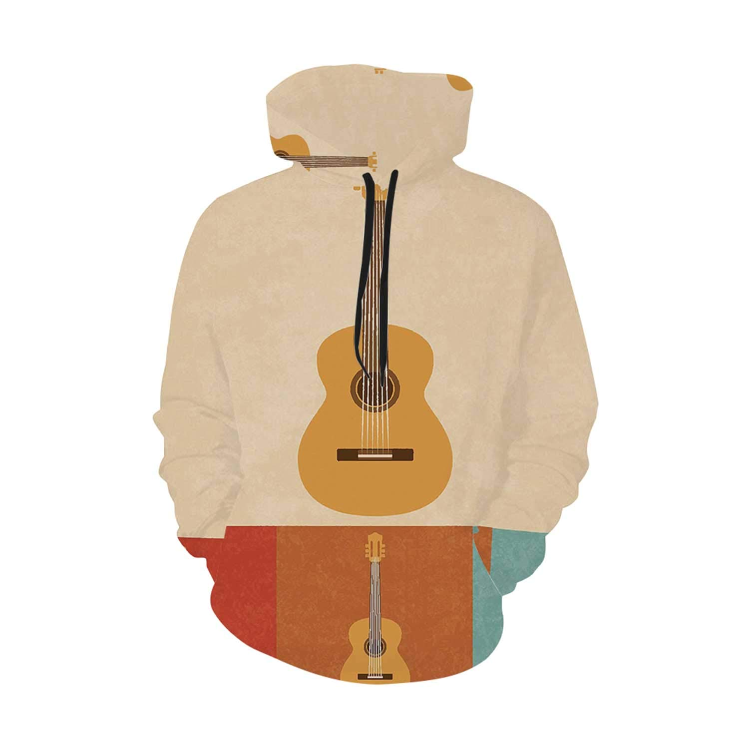 C COABALLA Guitar Comfortable Print Hoodie,for Leisure,XS,S,M,L,XL by C COABALLA