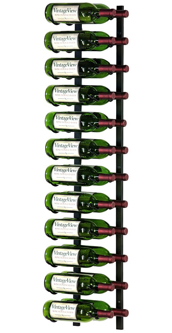 9 Bottle Vintage View Wall Mounted Wine Rack Ws31 3 Foot Chrome