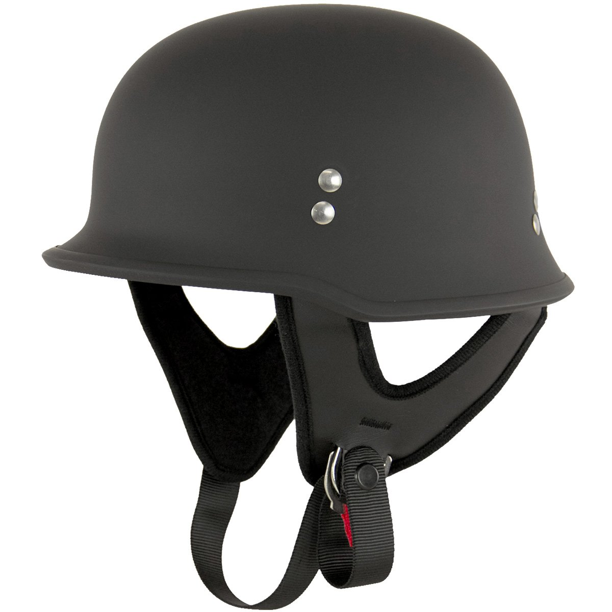 Outlaw T-75 German Style Flat Black Half Helmet - Large by Outlaw