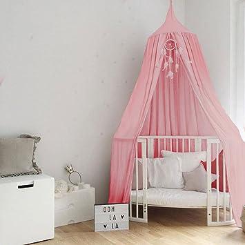 Lit Baldaquin Ciels De Lit Coton Moustiquaire De Bébé et Les Adulte Filles  Princesse Jouer Tente Enfant Chambre Décoration (Rose)