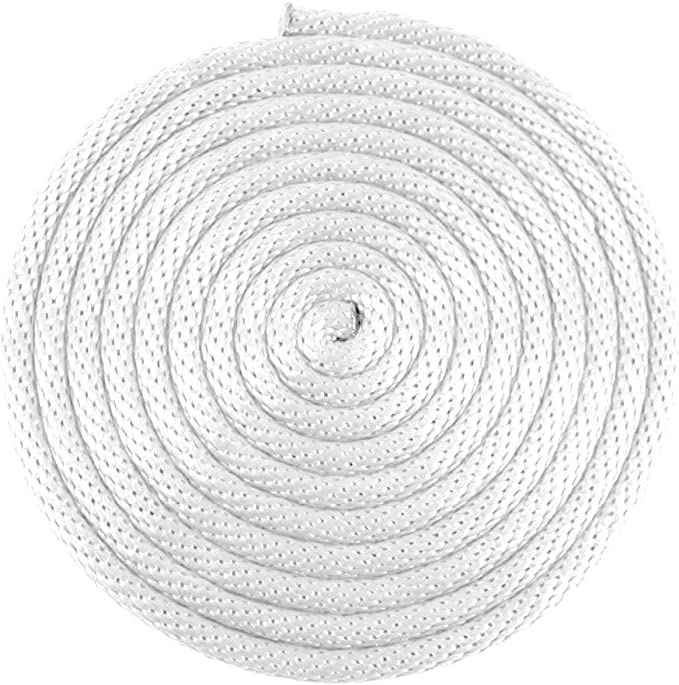 20M Long ALL WHITE DIAMOND BRAIDED ROPE 3mm Thick HOLDS 80Kg Pulley Utility Cord