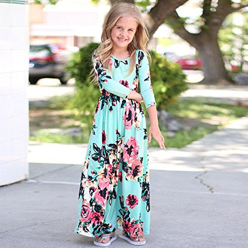 1b264431d Birdfly Baby Girls Floral Maxi Dress Hawaiian Vibes Toddlers Casual ...
