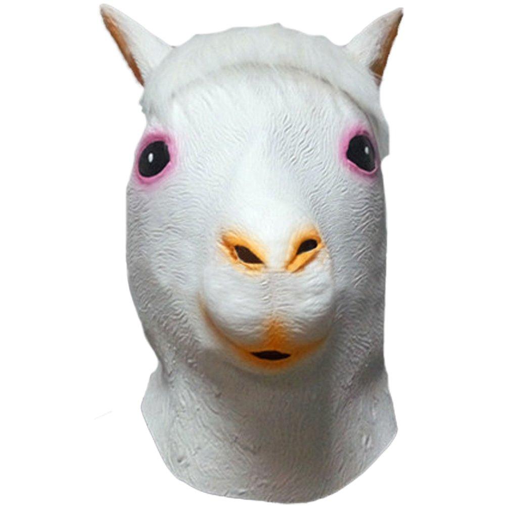 Queenshiny® máscara de látex Animales (Alpaca)