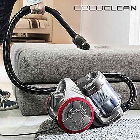 Aspirador Multiciclónico Cecoclean Eco Extreme 3000 5068 3,5 L 700W Gris Rojo: Amazon.es: Hogar