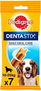 Pedigree Pack de Dentastix de uso Diario para la Limpieza Dental de Perros Medianos (10 Packs de 7ud)
