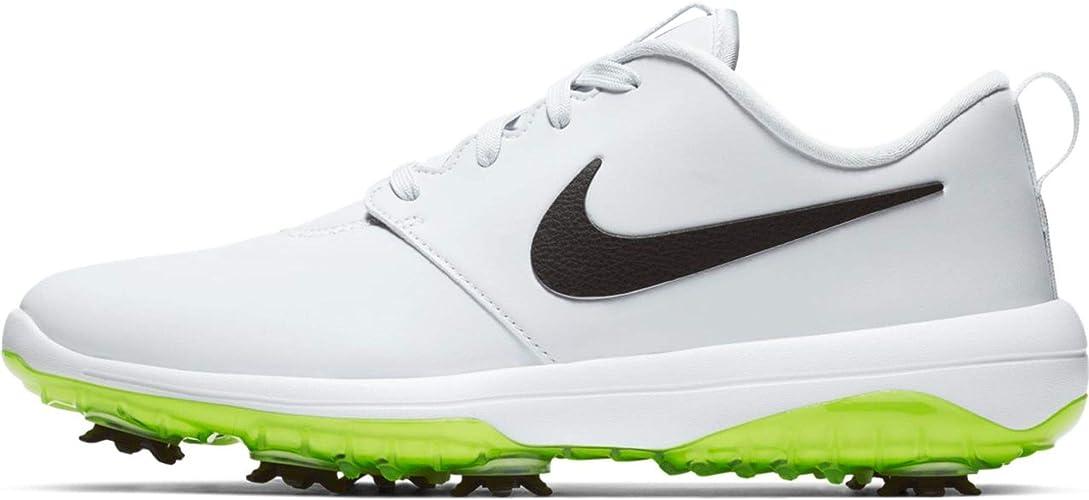 Amazon Com Nike Men S Roshe G Tour Golf Shoes 11 5 M Us Pure Platinum Black White Volt Glow Golf