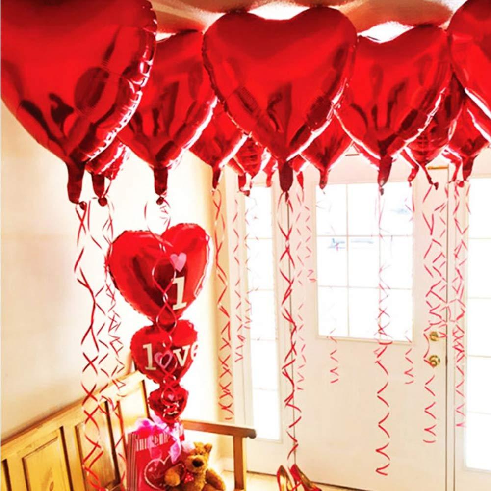 Angmile Je taime Ballon en Forme de Coeur Film en Aluminium Film Ballon Saint Valentin Mariage Fian/çailles F/ête de Mariage C/ér/émonie D/écoration Ballon Romantique Accessoires de D/écoration