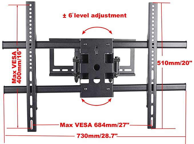 VideoSecu TV Wall Mount for Haier 39-65 inch 39D3005 42HP25SAT 42HP25BAT on
