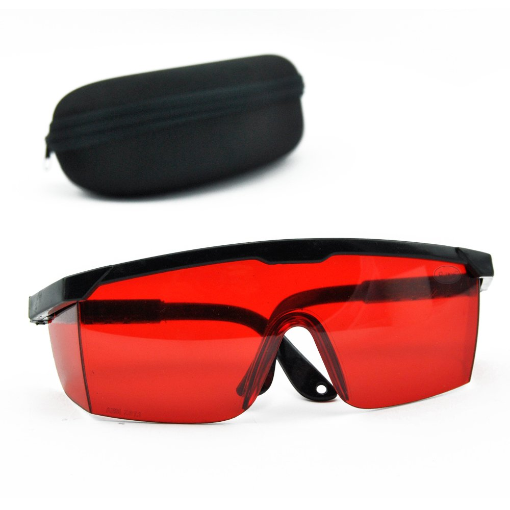 E-TING Goggles Laser Eye Protection Safety Glasses 190nm-540nm Goggle Glass Shield with Case for Green Blue Laser Pointer