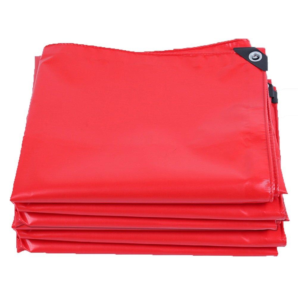 PENGFEI 厚い オーニング ターポリン 防水 日焼け止め ステージ カーポート 雨布 園芸 植物の日焼け止め PVC、 厚さ0.45MM、 420 G/M² (色 : 赤, サイズ さいず : 4x6m) B07DC18J7G 4x6m|赤 赤 4x6m