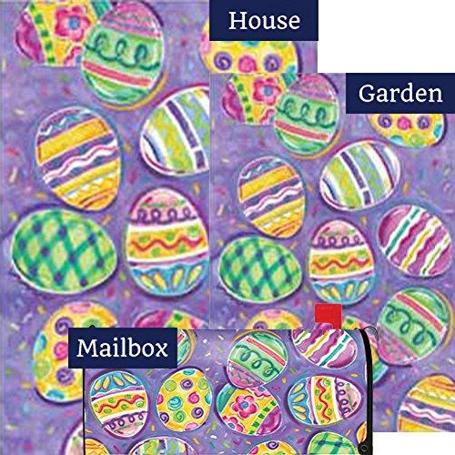 Egg Toss Easter Flag Mailbox Cover Bundle (Bundle Of 3) Easter Eggs Mailbox Cover