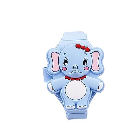 Reloj digital, LED para niños, niño y niña, silicona dibujos animados animales Reloj