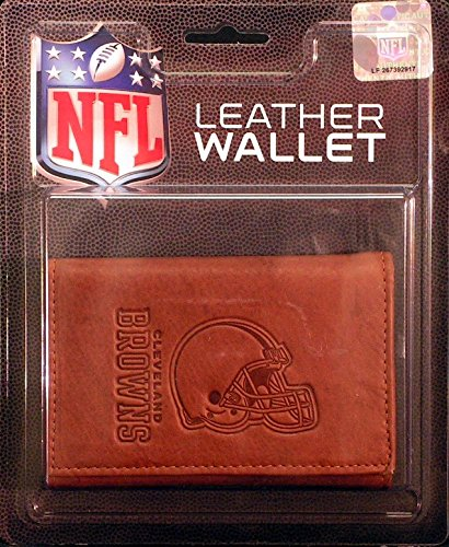 NFL Cleveland Browns Leather Trifold Wallet with Man Made Interior