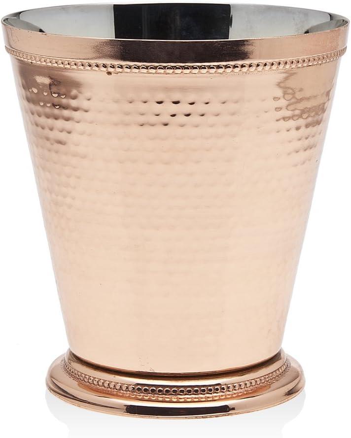 Godinger Hammered Beaded Vase, Copper