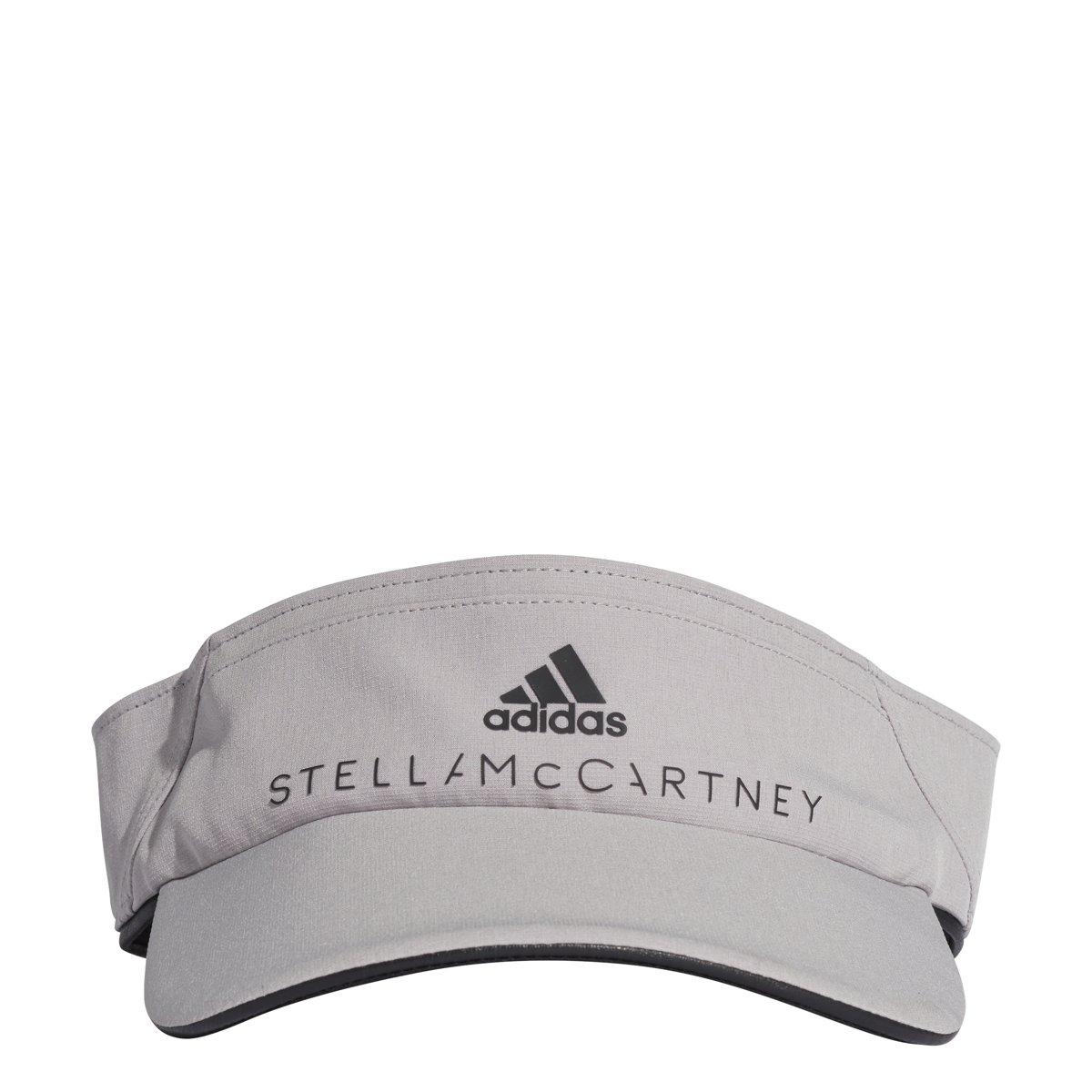 adidas by Stella McCartney Women's Cotton Visor, Pearl Grey, One Size