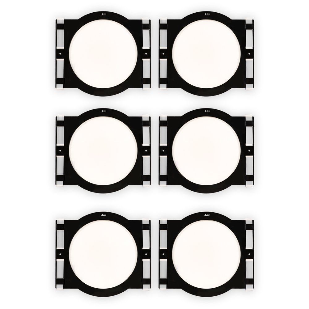 Theater Solutions RK6C In Ceiling Installation Rough In Kit for 6.5'' Speakers 3 Pair Pack