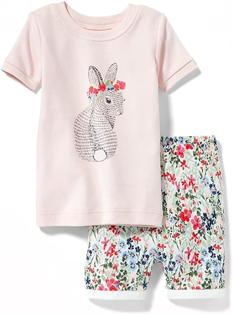 Toddler /& Baby Girl Flower-Bunny Sleep Set!