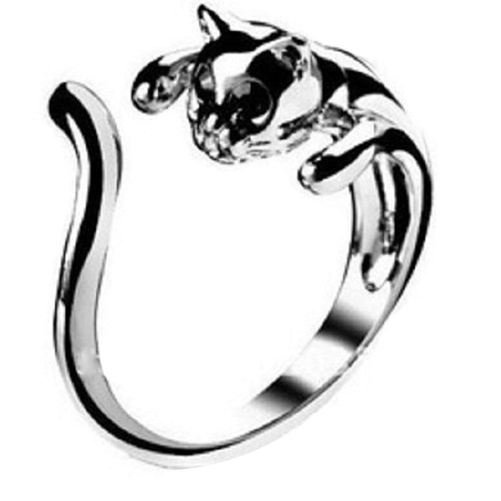 Impression 1Pcs Anneaux Anneau de forme animal anneau de diamant de mode anneau de cristal Girl Accessoires de la bijouterie jour de la Saint Valentin Cadeaux de mariage anneau ouvert YXYP