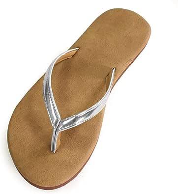 Women's Classic Lightweight Comfort Flat Thong Flip Flop Sandals Buena
