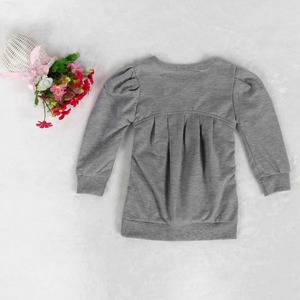Lange Hosen Bekleidungset (2-6 Jahre) Bekleidung Longra Kleinkind Kider M/ädchen Outfit Kleidung Warm Langarm-t-Shirt