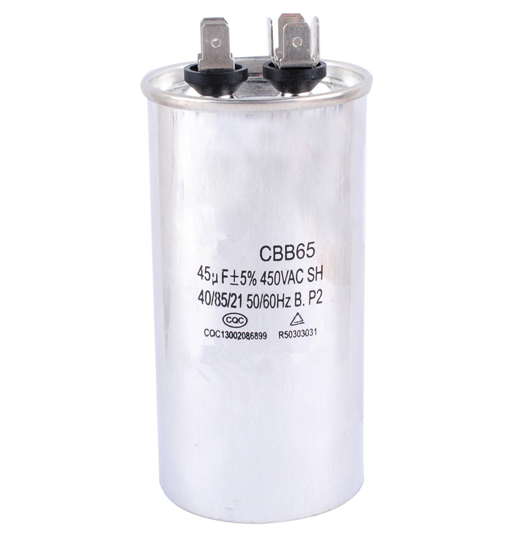 Podoy CBB65 Capacitor Motor Running for Air Conditioner 450VAC SH 40/85/21 50/60Hz 45uF AX-AY-ABHI-87981