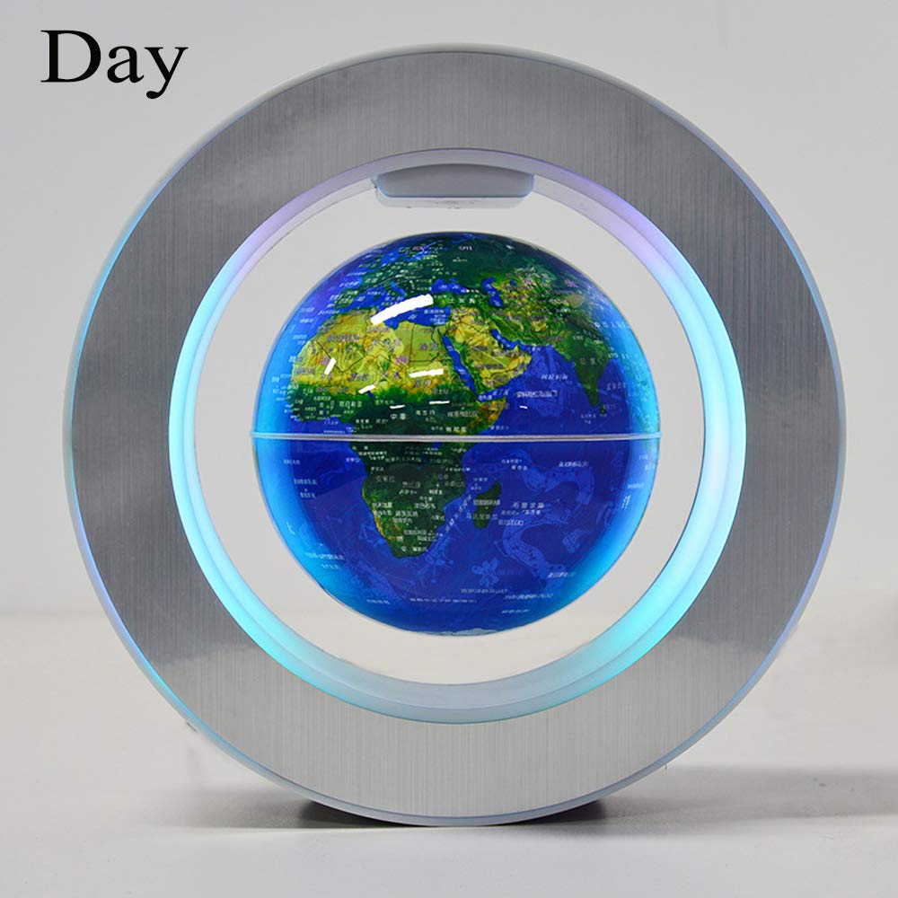 YANGHX Magnetic Levitation Floating World Map With Constellations LED Light Globe 2 in 1 Anti Gravity Suspending In The Air Decoration Gadget Children's GIFT ( Blue 6 inch ) by YANGHX (Image #2)