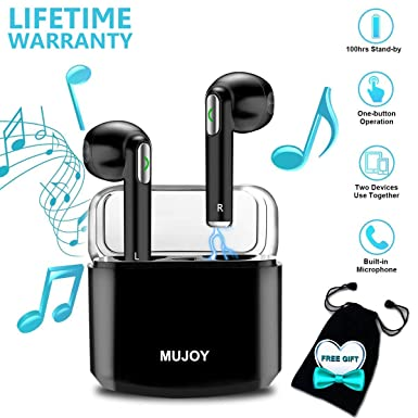 90d5eff6208 Auriculares Inalambricos, Auriculares Bluetooth Inalámbricos áuriculares In  Ear Inalambricos con Micrófono áuriculares Bluetooth Mini Estéreo