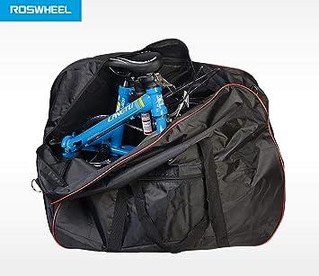 Bolso de bicicleta de almacén unisex, acolchado, plegable, bolsa de hombro de transporte