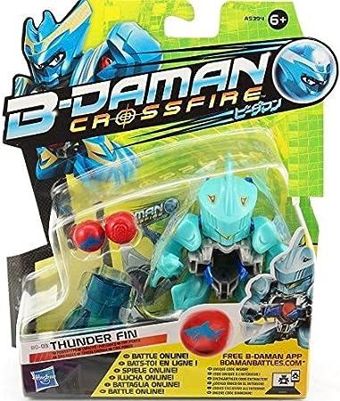 B-DAMAN CROSSFIRE Thunder fin blu  con accessori