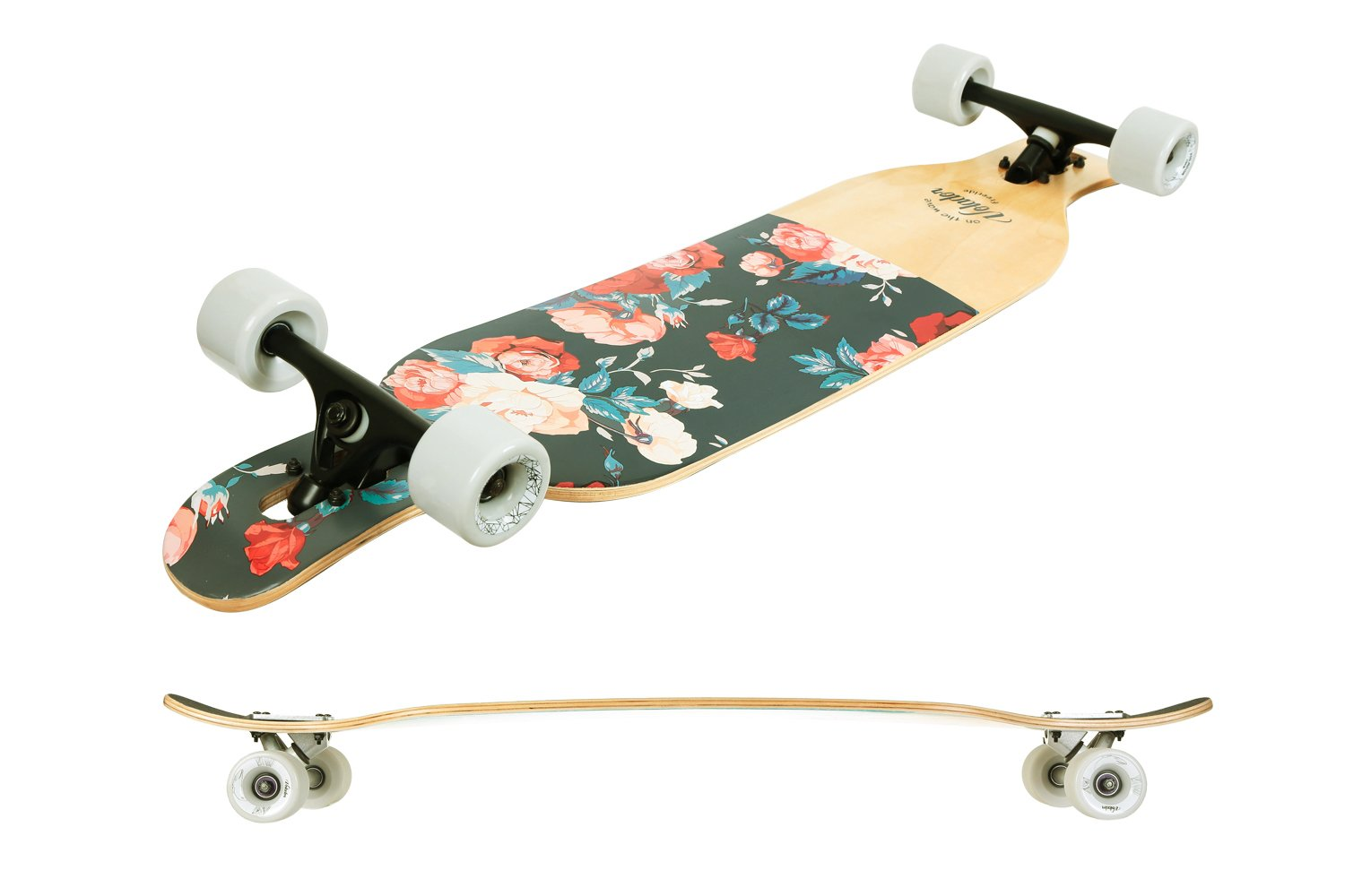 Drop Through Deck - Camber c Details about  /VOLADOR 42inch Freeride Longboard Complete Cruiser
