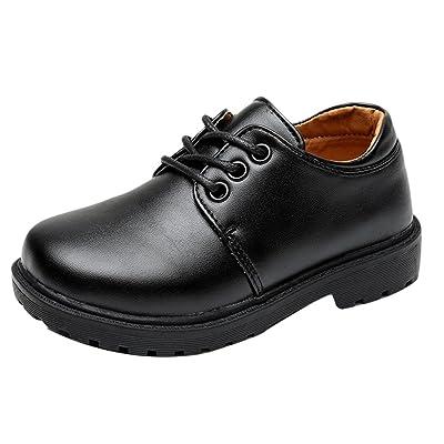 Zhuhaitf Kids Boys Lace Up Casual Shoes Elegant Gentleman Boys PU Leather Shoes